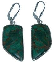 Design 20282: Yellow, Green malachite earrings