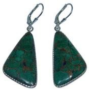 Design 20283: Yellow, Green malachite earrings