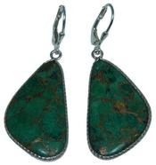 Design 20284: Yellow, Green malachite earrings