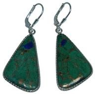 Design 20285: Yellow, Green malachite earrings