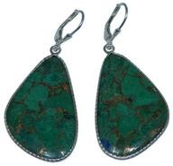 Design 20286: Yellow, Green malachite earrings