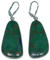 Design 20287: Yellow, Green malachite earrings