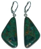 Design 20293: Yellow, Green golden malachite earrings