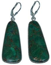 Design 20294: Yellow, Green golden malachite earrings