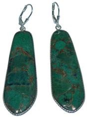Design 20306: Yellow, Green golden malachite earrings