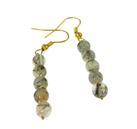 Design 20475: white rutilated quartz earrings