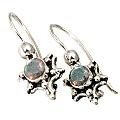 Design 9462: blue,green,gray labradorite earrings