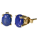 Design 9924: Blue lapis lazuli post, studs earrings
