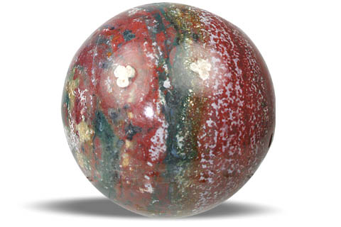 Design 10589: multi-color bloodstone spheres healing