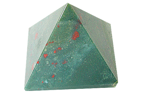 Design 11345: green bloodstone pyramid healing