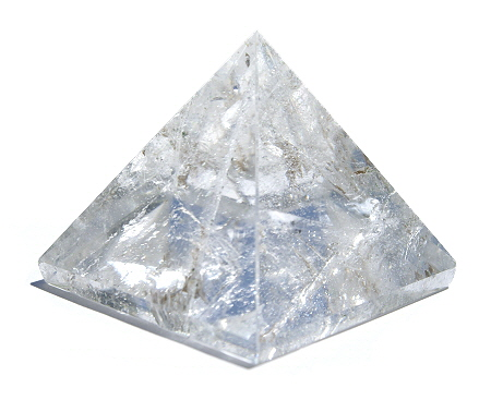 Design 11535: white crystal pyramid healing
