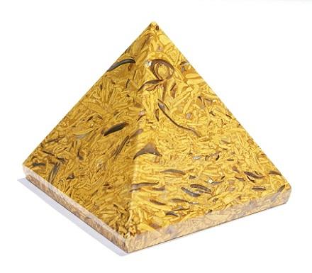 Design 11595: yellow jasper pyramid healing