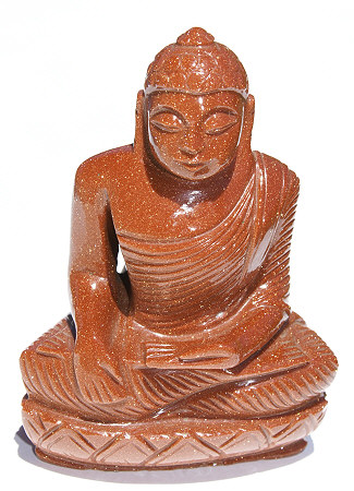 Design 11672: brown,red goldstone buddha healing