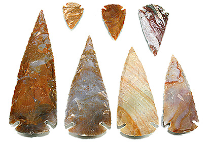 Design 12084: brown jasper stone-arrowheads healing