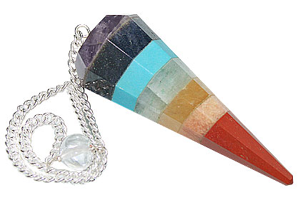 Design 15418: multi-color multi-stone pendulum healing