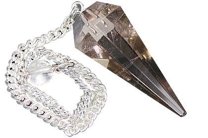 Design 15439: brown smoky quartz pendulum healing