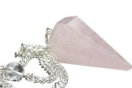 Design 7373: pink rose quartz pendulum healing