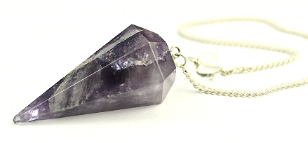 Design 9488: purple amethyst pendulum healing