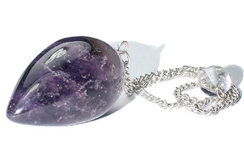 Design 9611: purple amethyst pendulum healing