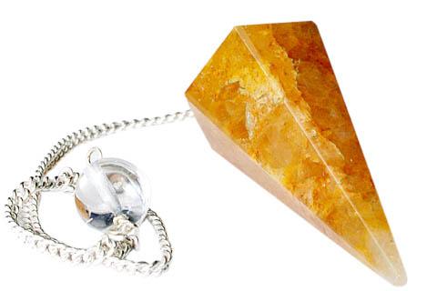 Design 9651: yellow quartz pendulum healing