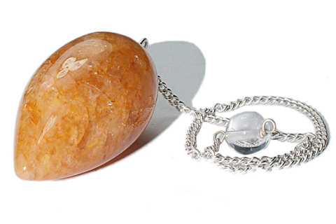 Design 9654: yellow quartz pendulum healing