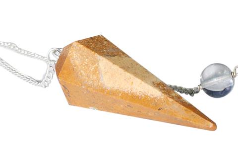 Design 9655: yellow jasper pendulum healing