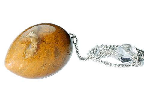 Design 9658: yellow jasper pendulum healing
