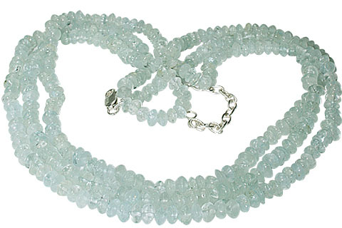 Design 10001: blue aquamarine brides-maids necklaces