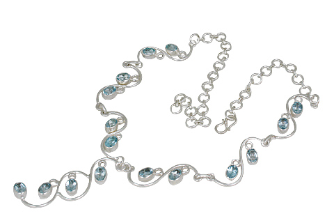 Design 10748: blue blue topaz necklaces