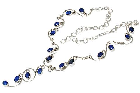 Design 10752: blue lapis lazuli necklaces