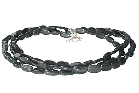 Design 10914: black aventurine multistrand necklaces