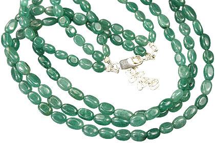 Design 10916: green aventurine multistrand necklaces