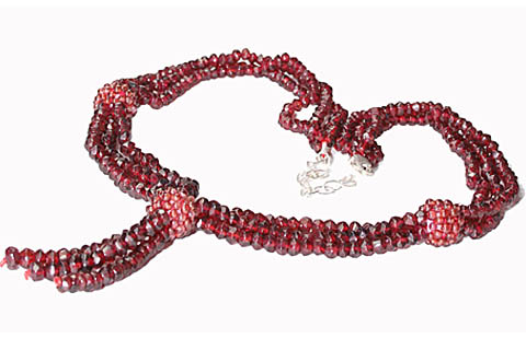 Design 10947: red garnet necklaces