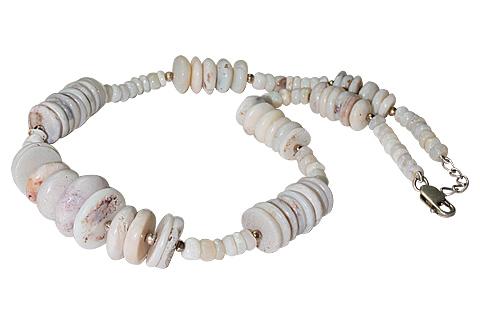 Design 10949: white opal necklaces