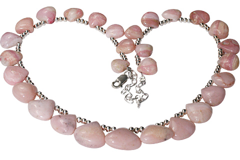 Design 10953: pink pink opal drop necklaces