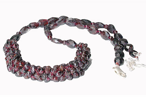 Design 10954: red garnet necklaces