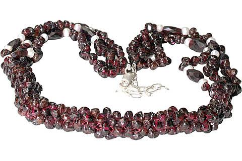 Design 10956: red garnet necklaces