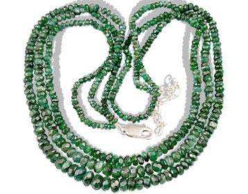 Design 10958: green emerald classic, multistrand necklaces