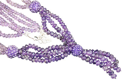 Design 10964: purple amethyst multistrand necklaces
