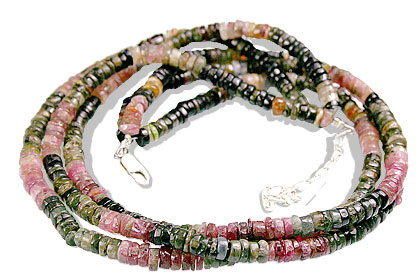 Design 10971: pink tourmaline multistrand necklaces