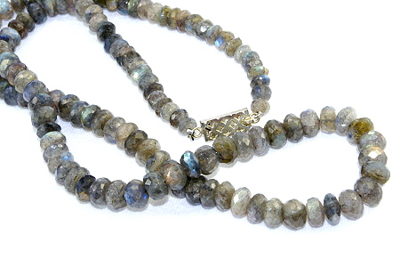 Design 10986: blue,green,gray labradorite necklaces