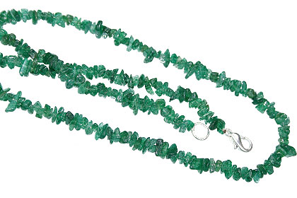 Design 11355: green aventurine chipped necklaces