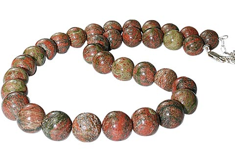 Design 11476: green unakite necklaces