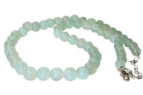 Design 11477: green aquamarine necklaces