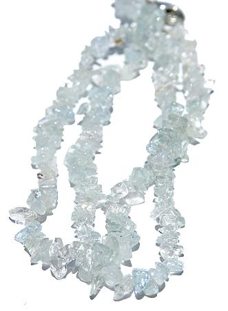 Design 11501: blue,green aquamarine chipped necklaces