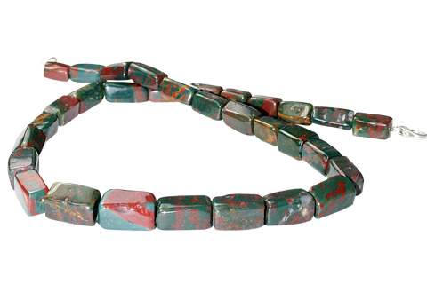 Design 11703: green,red bloodstone choker necklaces
