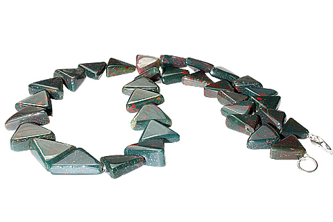 Design 11704: green,red bloodstone necklaces