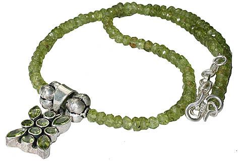 Design 11785: green peridot necklaces