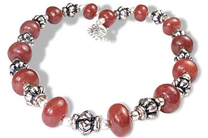 Design 11854: red indian jade ethnic necklaces