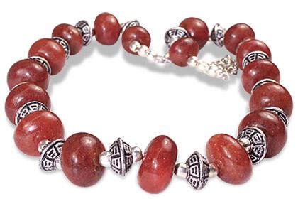 Design 11861: red indian jade necklaces